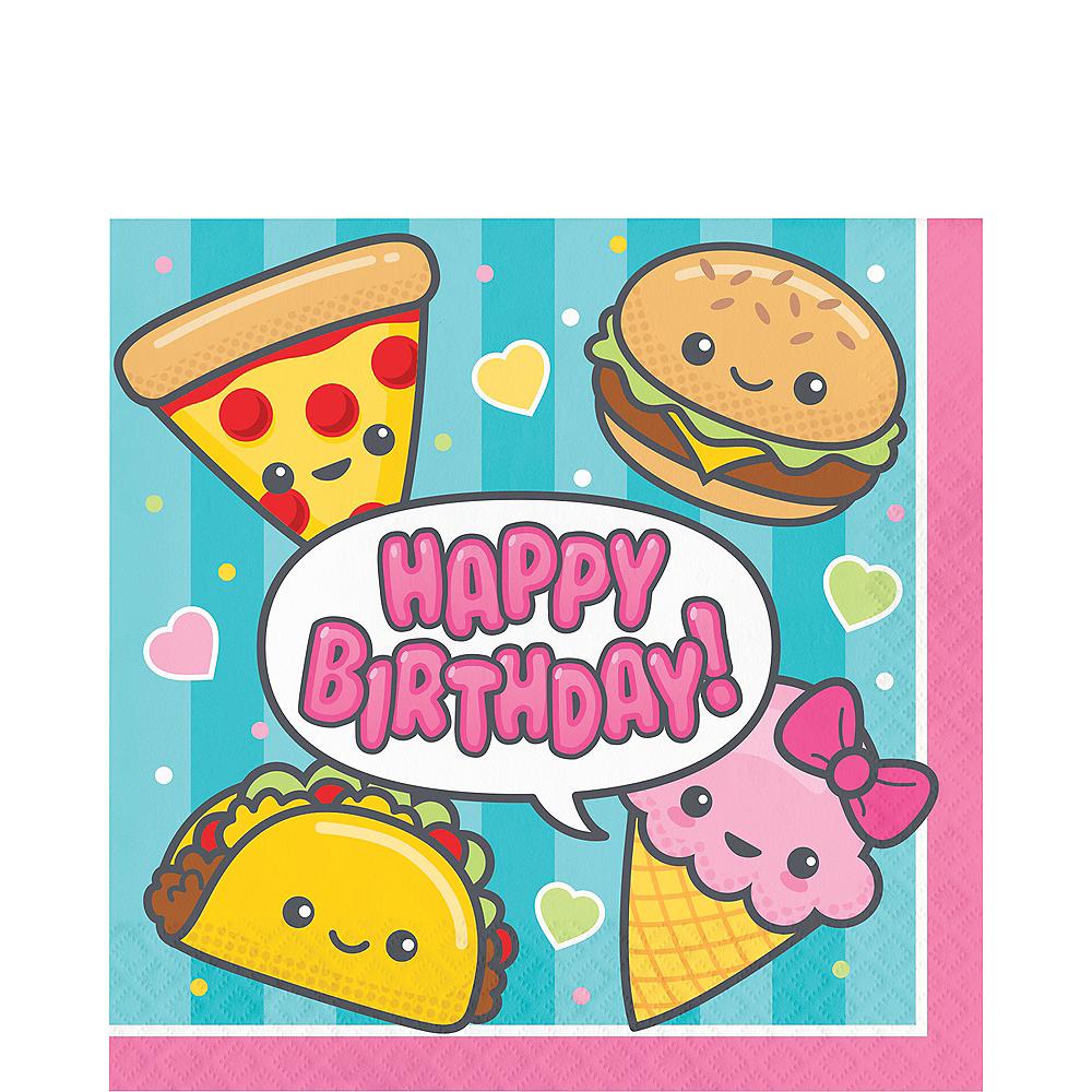 Junk Food Fun Happy Birthday Lunch Napkins 16ct Image #1