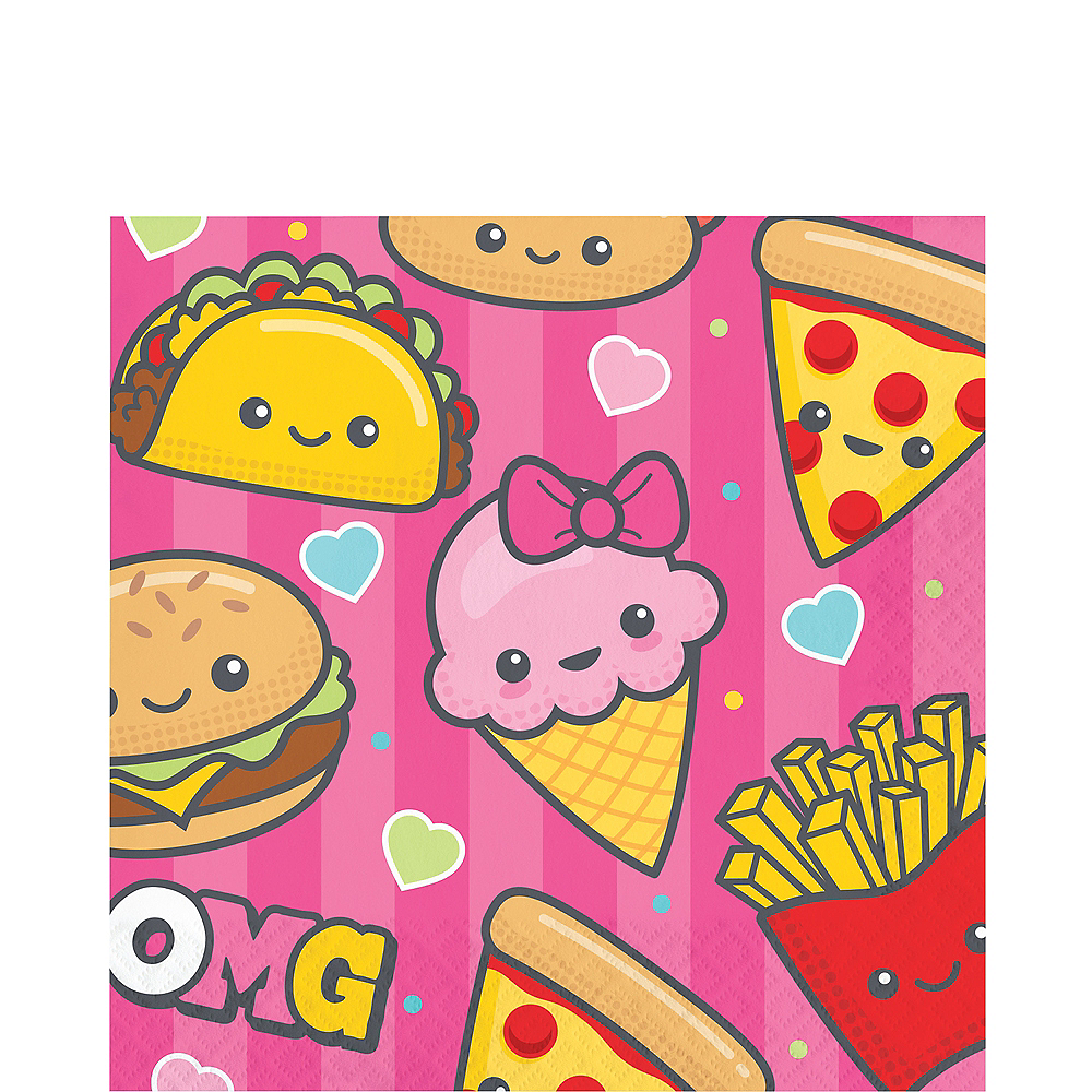 Junk Food Fun Lunch Napkins 16ct Image #1
