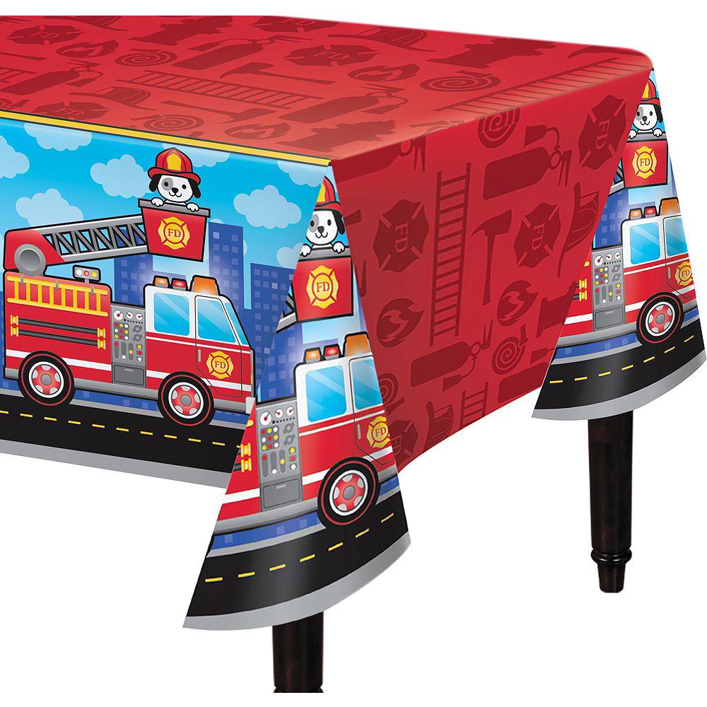 Fire Truck Table Cover Image #1
