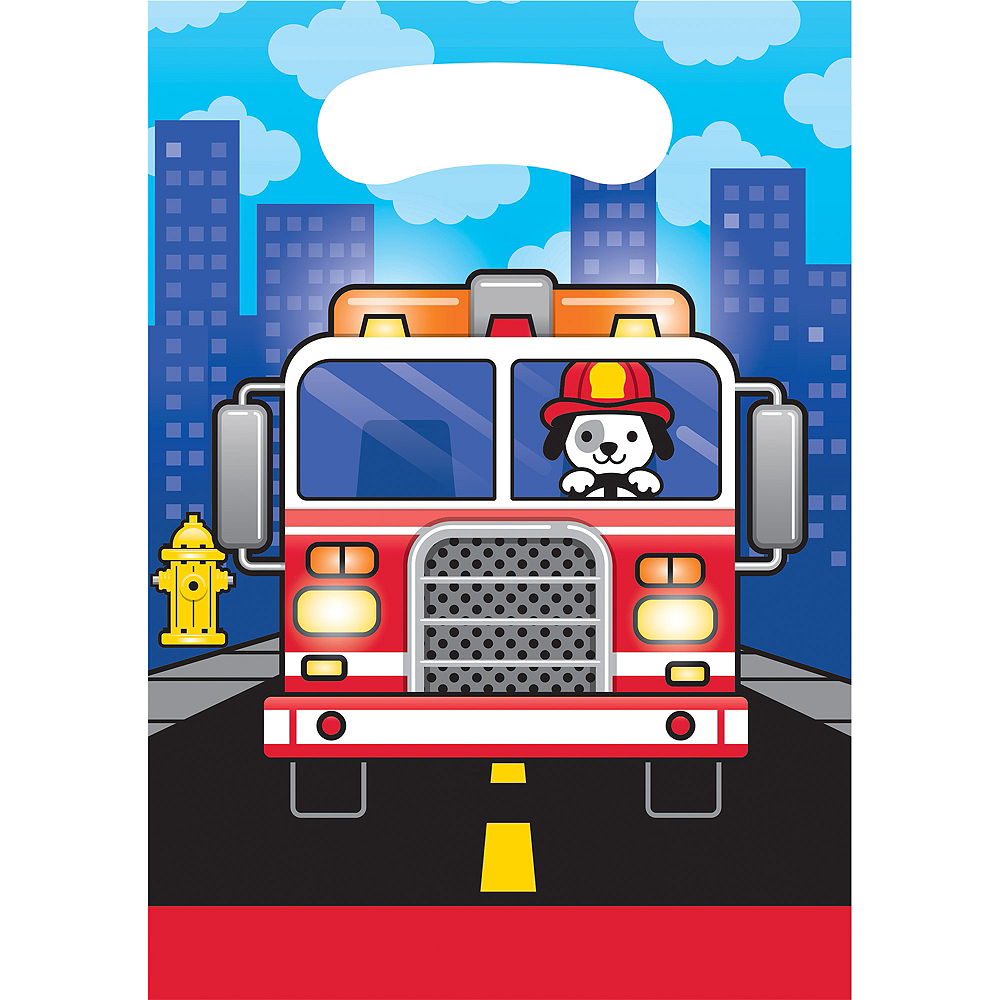 Fire Truck Favor Bags 8ct Image #1