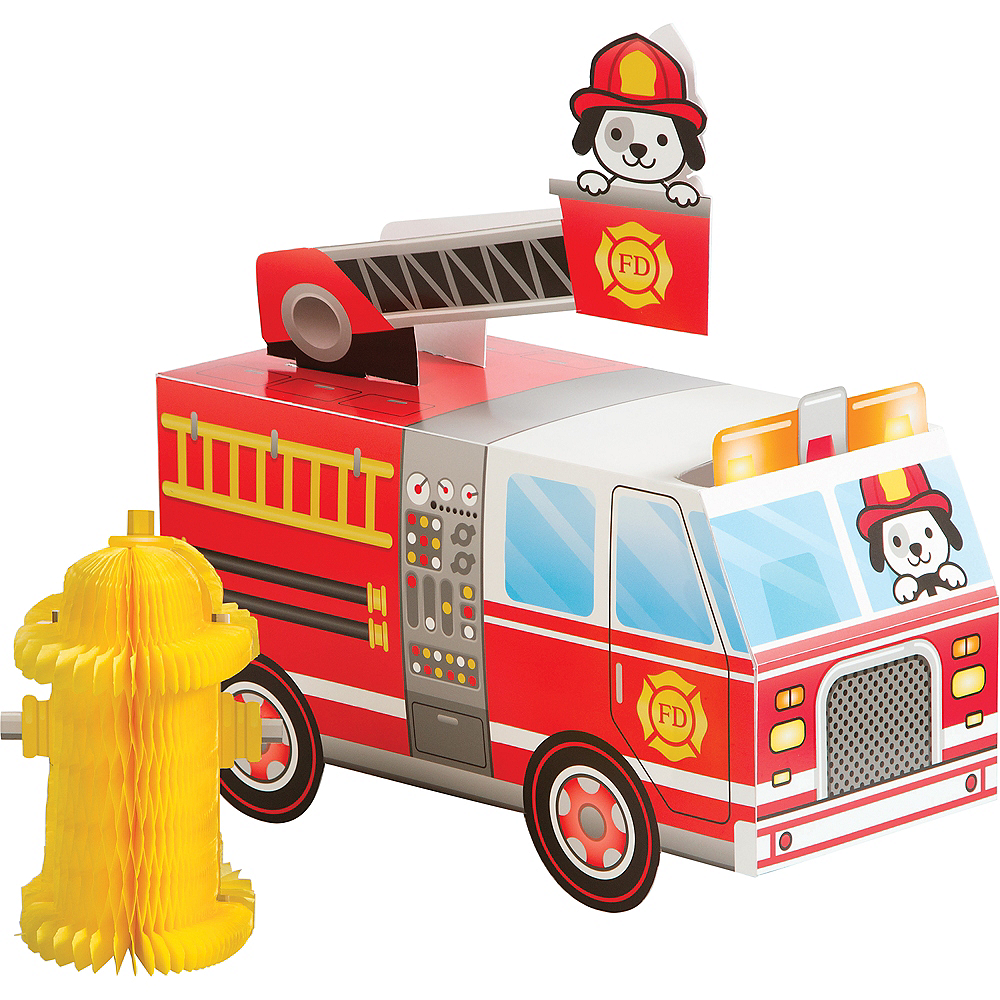 Fire Truck & Fire Hydrant Centerpiece Image #1
