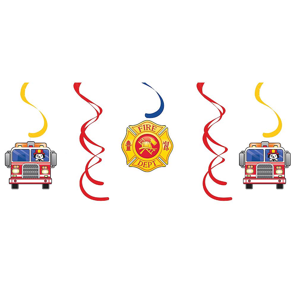 Fire Truck Swirl Decorations 5ct Image #1