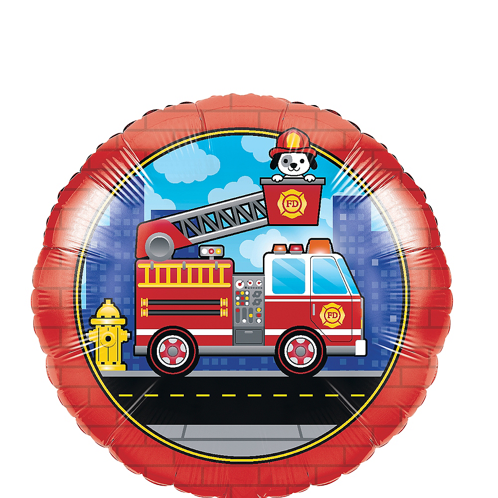 Fire Truck Balloon Image #1