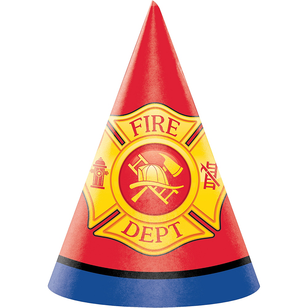 Firefighter Party Hats 8ct Image #1