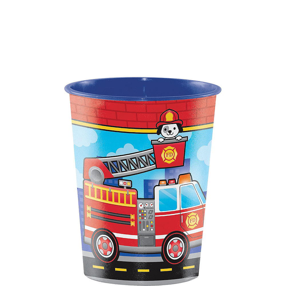 Fire Truck Favor Cup Image #1