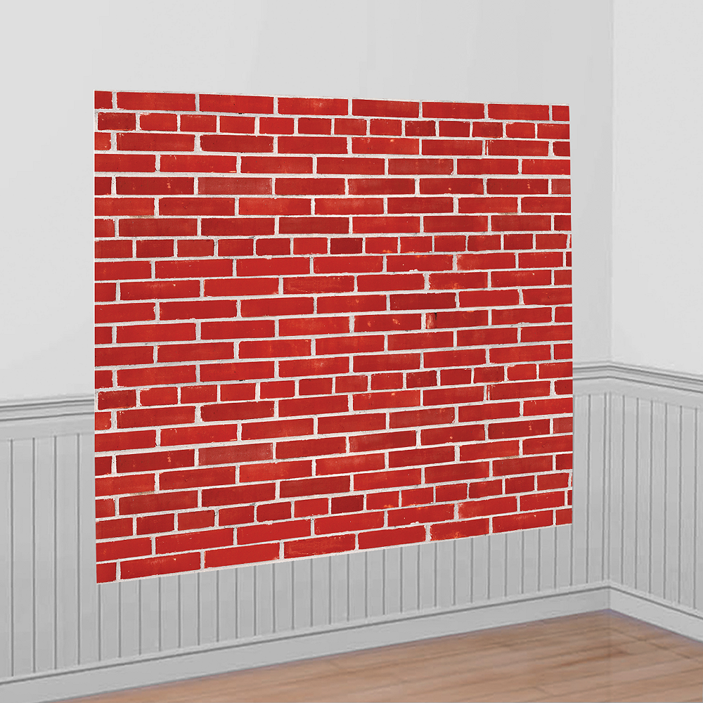 Brick Wall Scene Setter 54in X 72in Party City