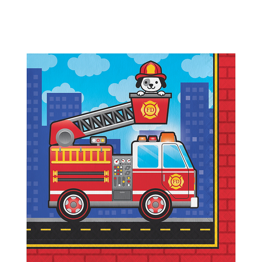 Fire Truck Lunch Napkins 16ct Image #1