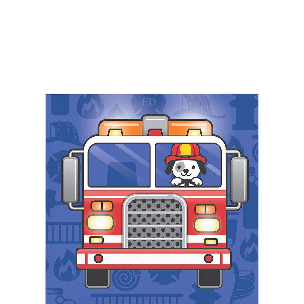 Fire Truck Beverage Napkins 16ct Image #1