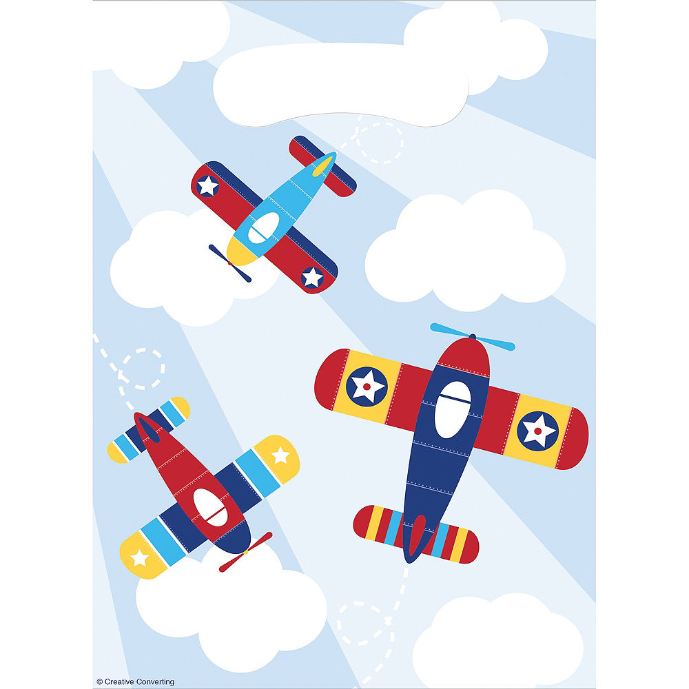 Airplane Favor Bags 8ct Image #1