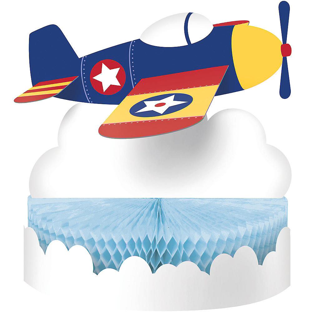 Airplane Honeycomb Centerpiece 9in x 12in | Party City
