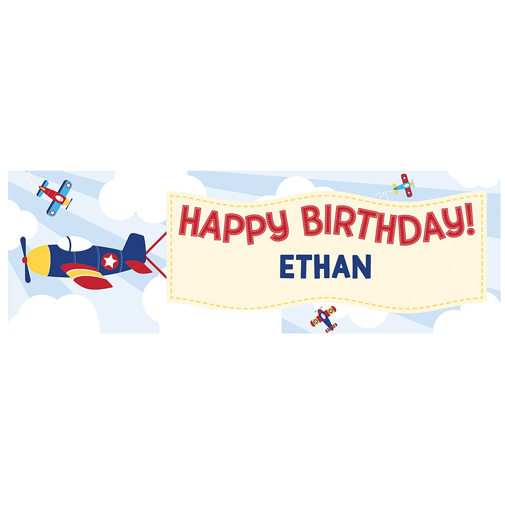 Giant Airplane Personalized Birthday Banner Kit Image #1