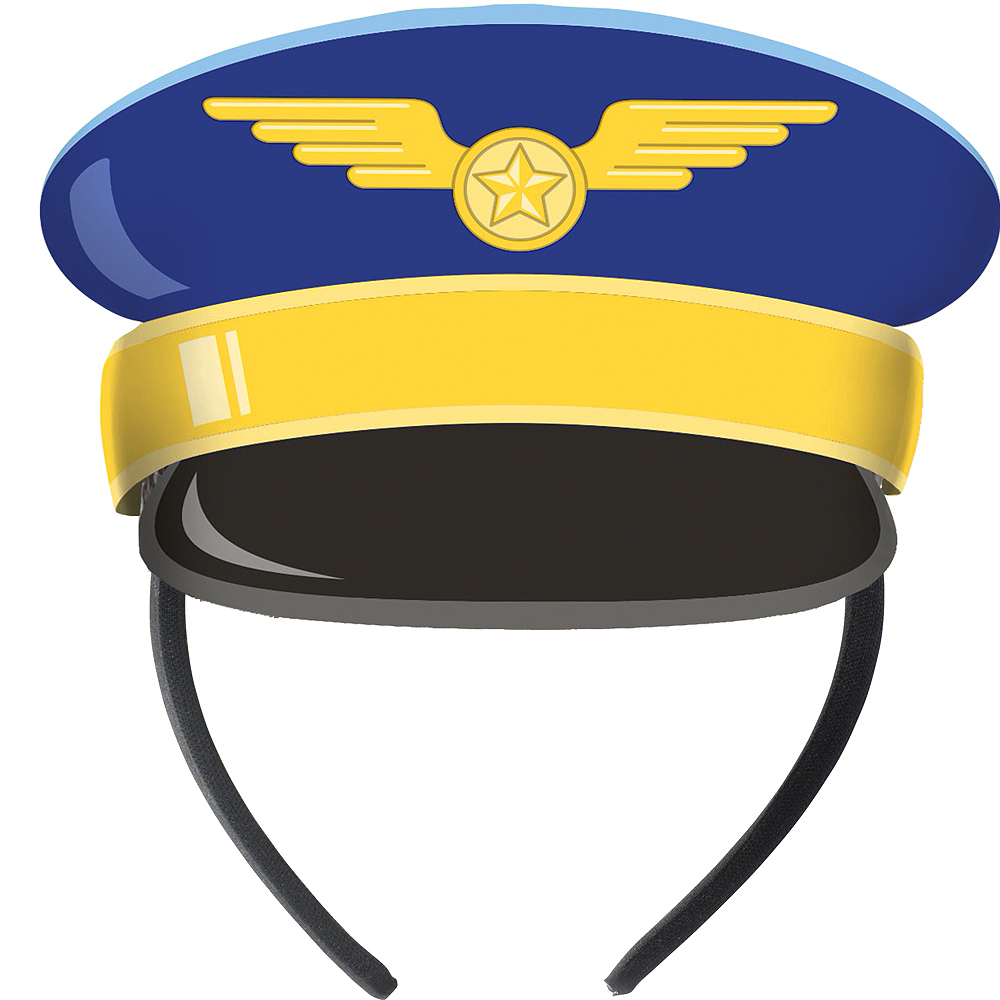 Airplane Pilot Paper Hats 8ct Image #1