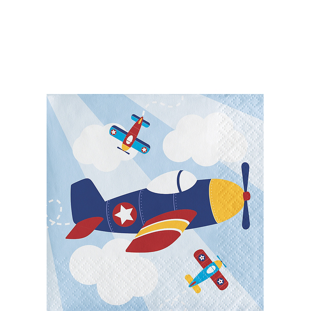Airplane Beverage Napkins 16ct Image #1