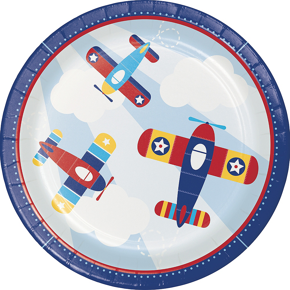 Airplane Lunch Plates 8ct Image #1