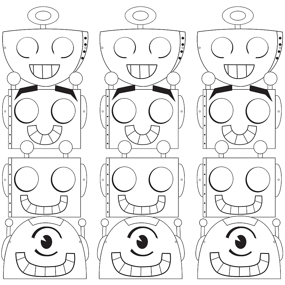 Robot Masks 12ct Image #1