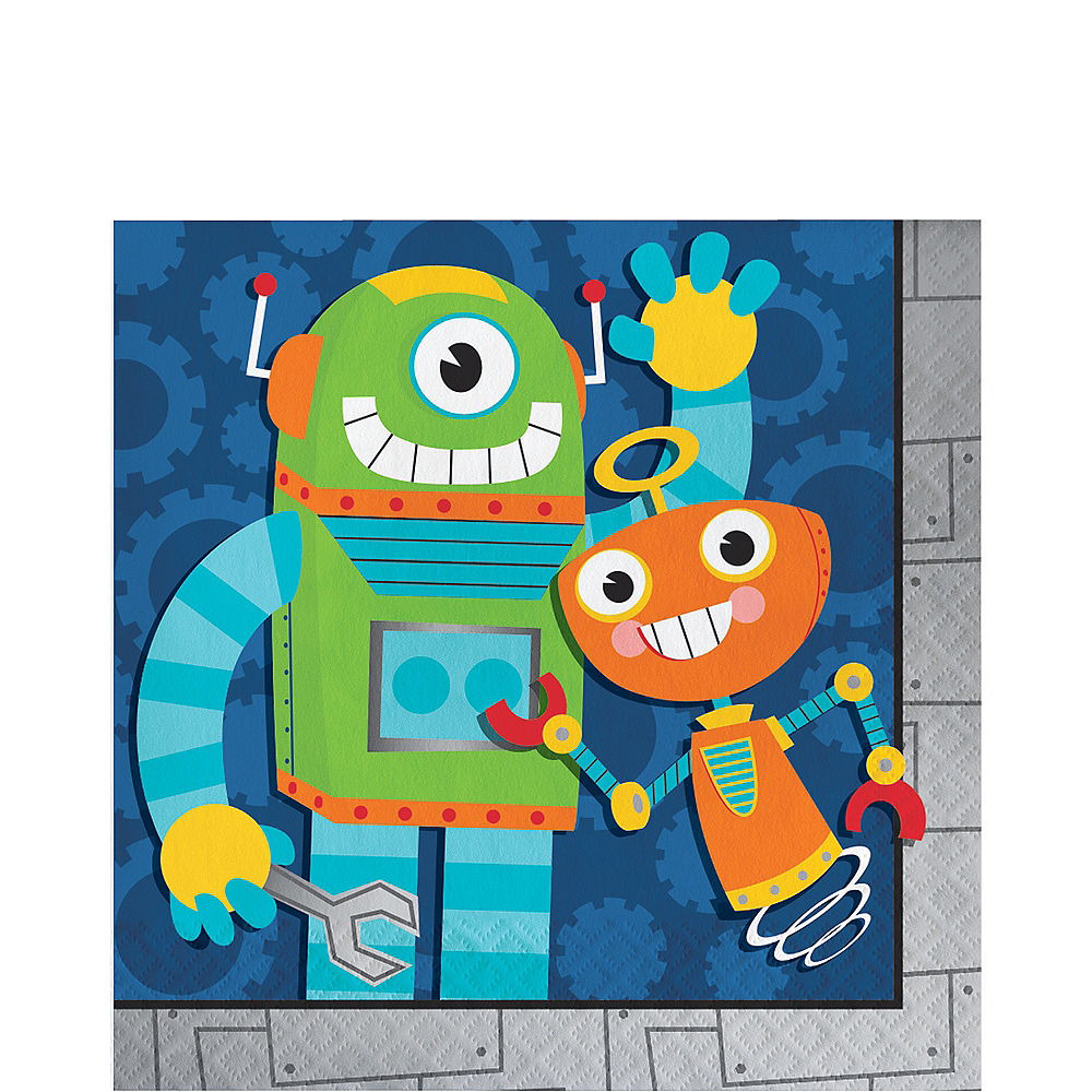 Robot Lunch Napkins 16ct Image #1
