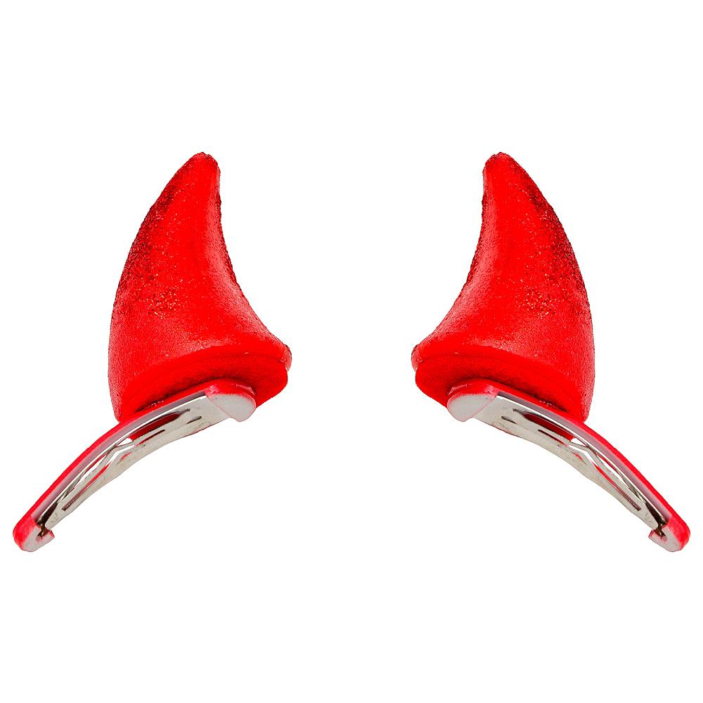 Glitter Devil Horn Hair Clips 2ct Image #1