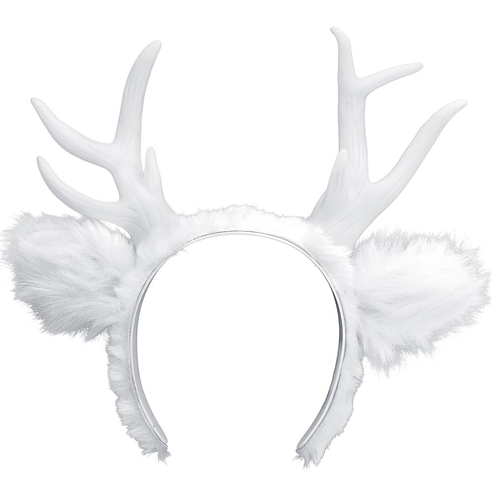 Light-Up White Deer Antlers Image #1