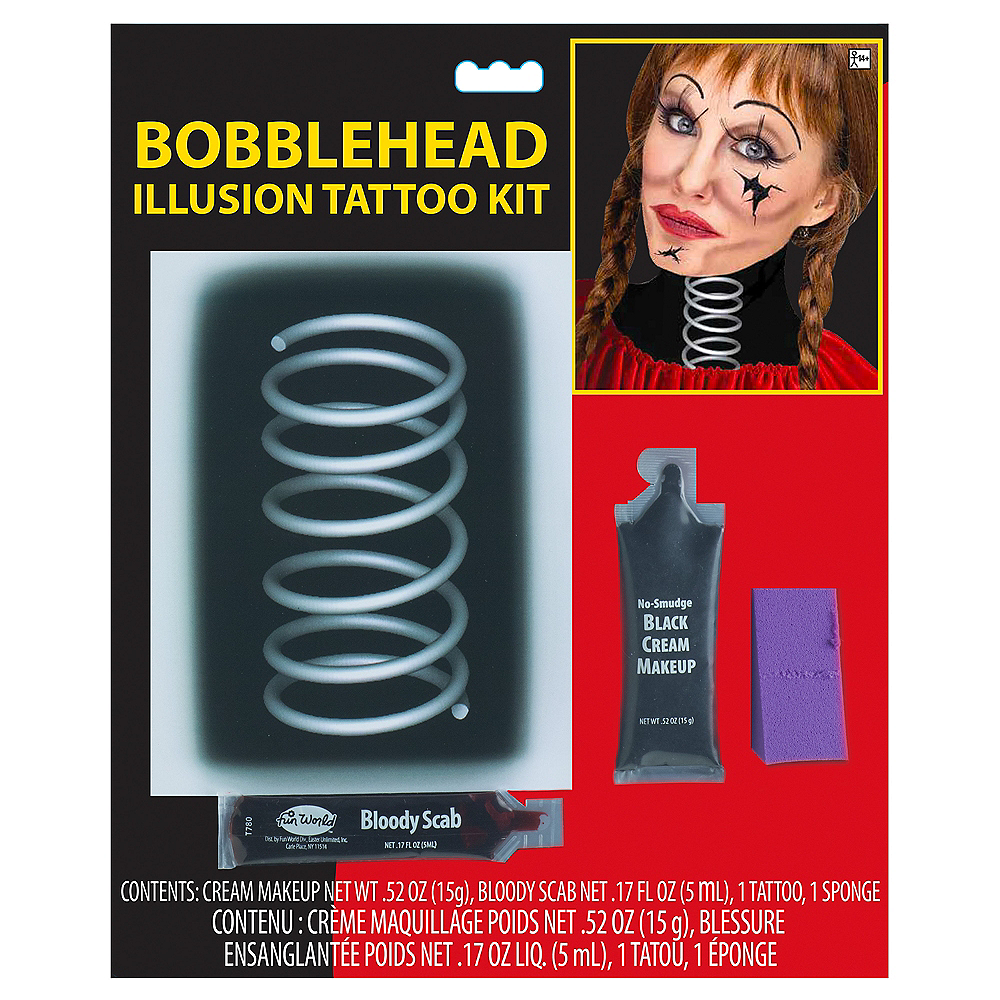Bobblehead Illusion Tattoo Kit 4pc Image #1
