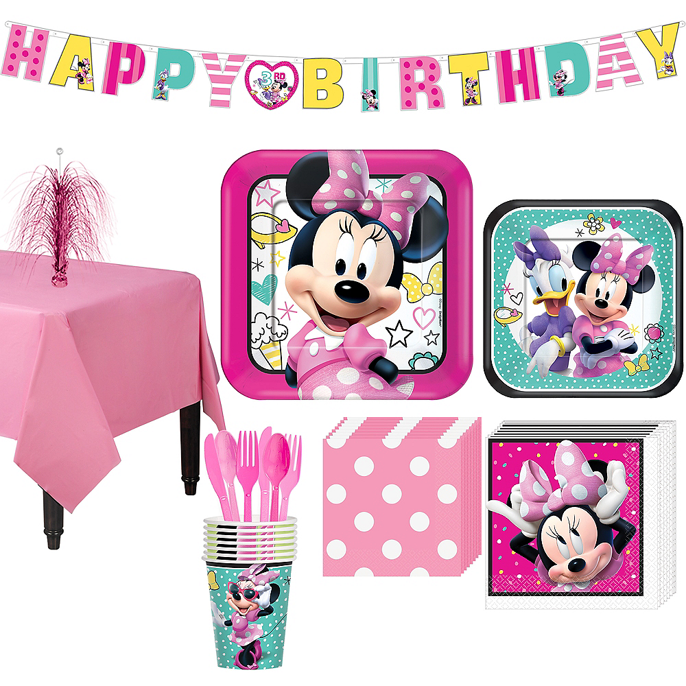 Minnie Mouse Basic Party Kit for 8 Guests Image #1