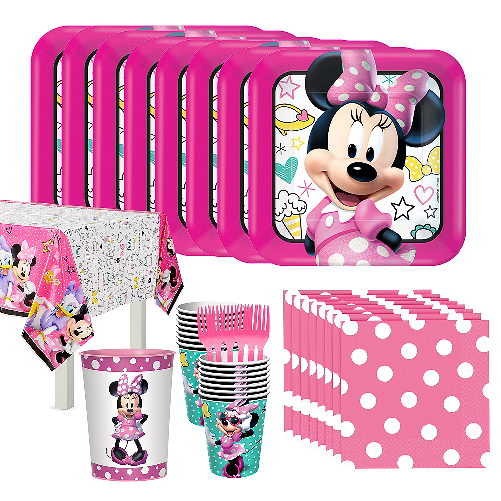 Minnie Mouse Standard Tableware Kit for 16 Guests Image #1