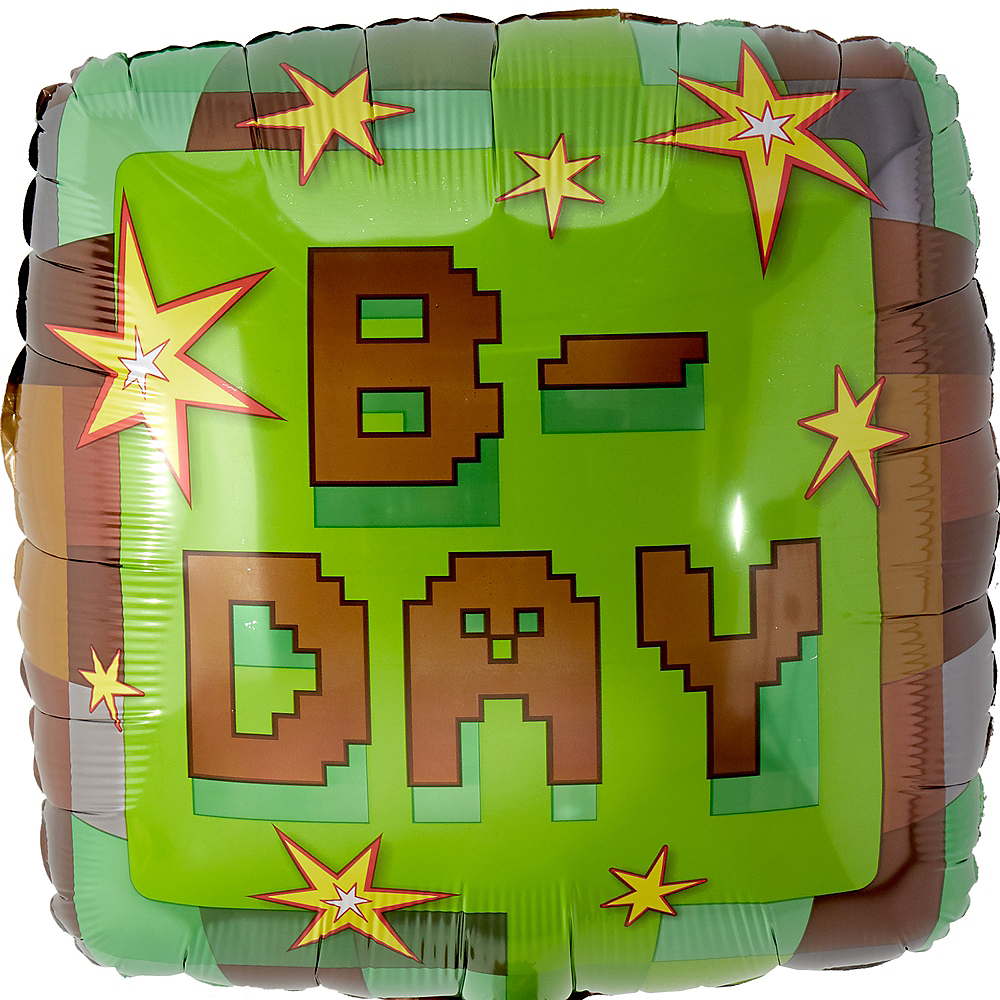 Pixelated Birthday Balloon Image #1