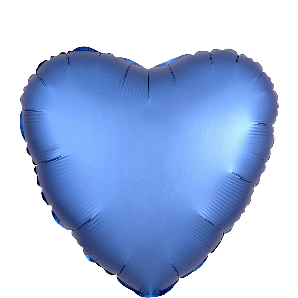 17in Royal Blue Satin Heart Balloon Image #1