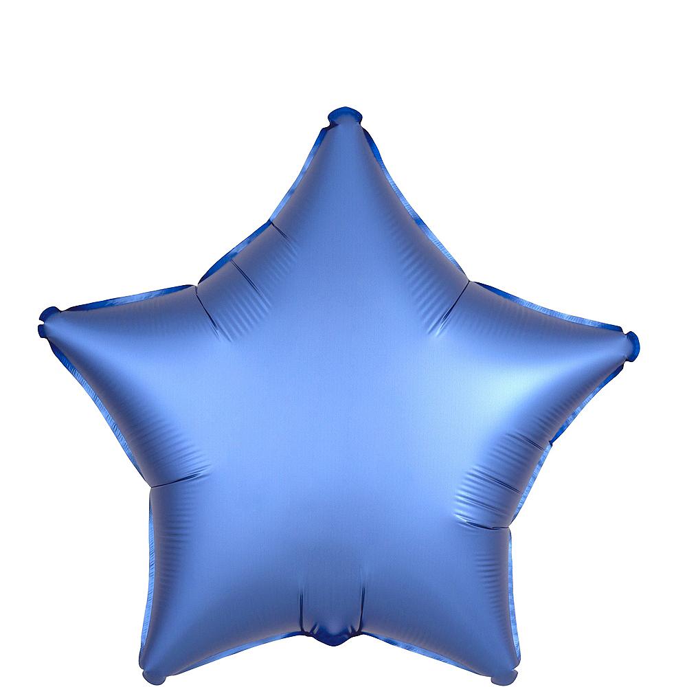 Royal Blue Satin Star Balloon Image #1