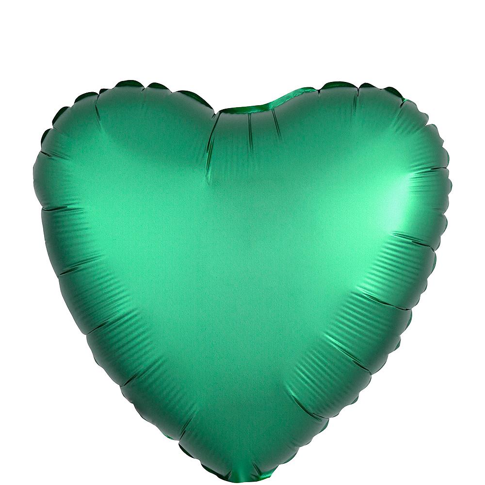 17in Seafoam Green Satin Heart Balloon Image #1