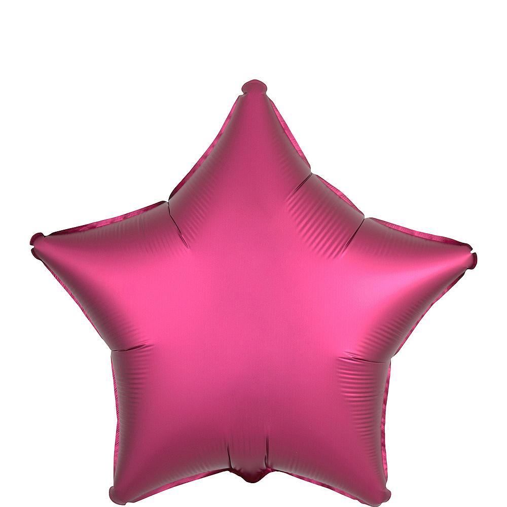 Bright Pink Satin Star Balloon Image #1