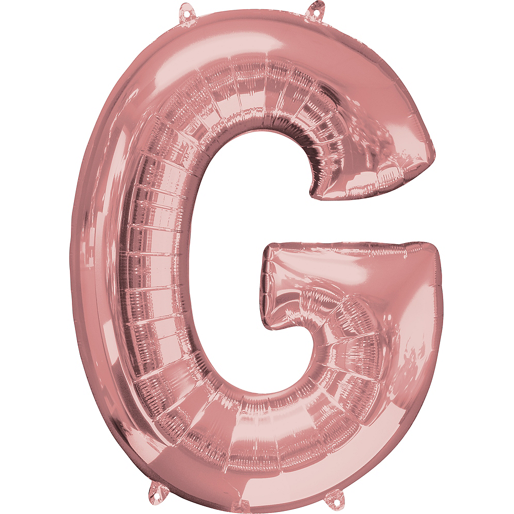 34in Rose Gold Letter Balloon (G) Image #1