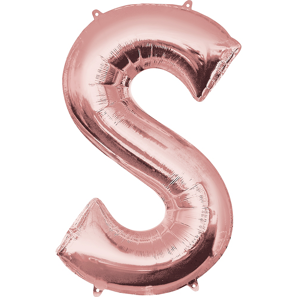 34in Rose Gold Letter Balloon (S) Image #1
