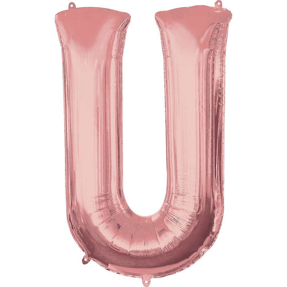 34in Rose Gold Letter Balloon (U) Image #1