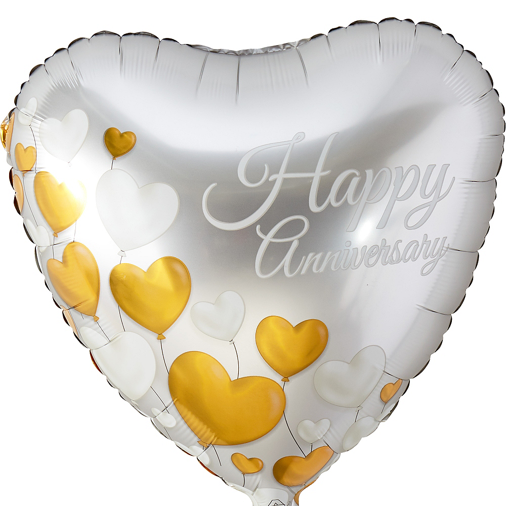 Happy Anniversary Heart Balloon 17in Party City