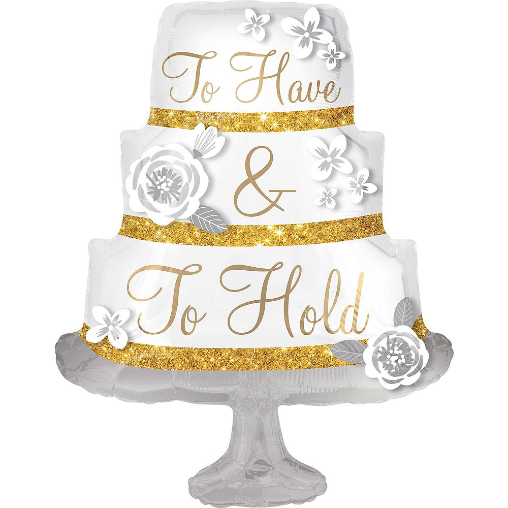 Giant Wedding Cake Balloon 25 1 4in X 35in