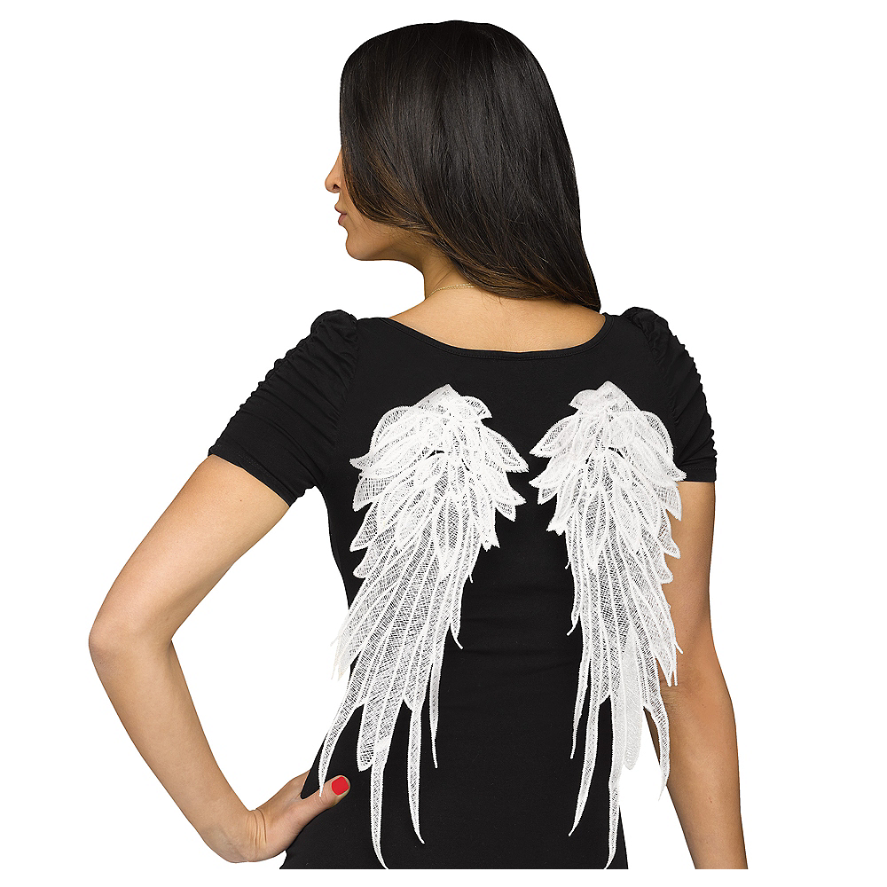 White Applique Wings Image #1