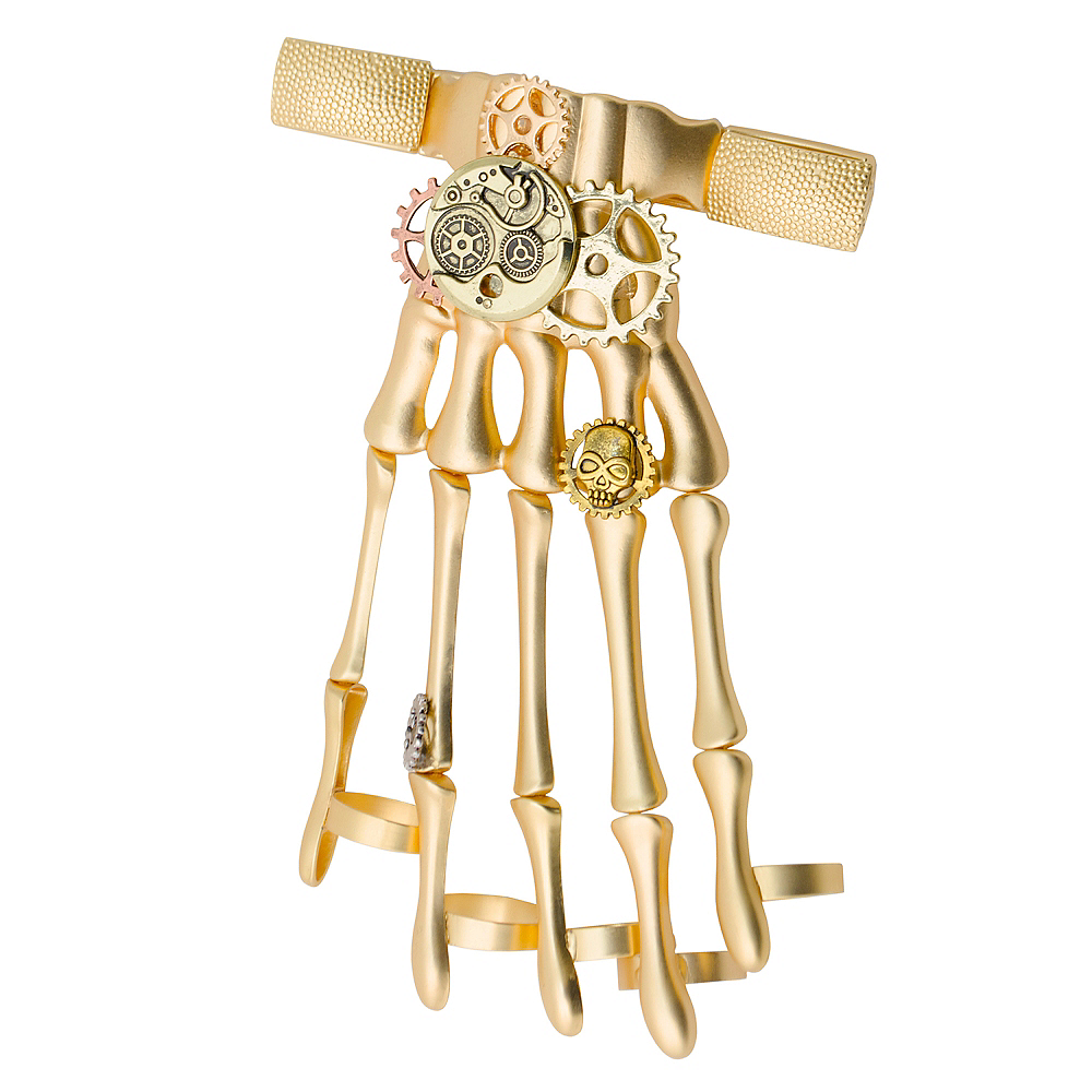 Gold Steampunk Hand Bracelet 2 1 2in X