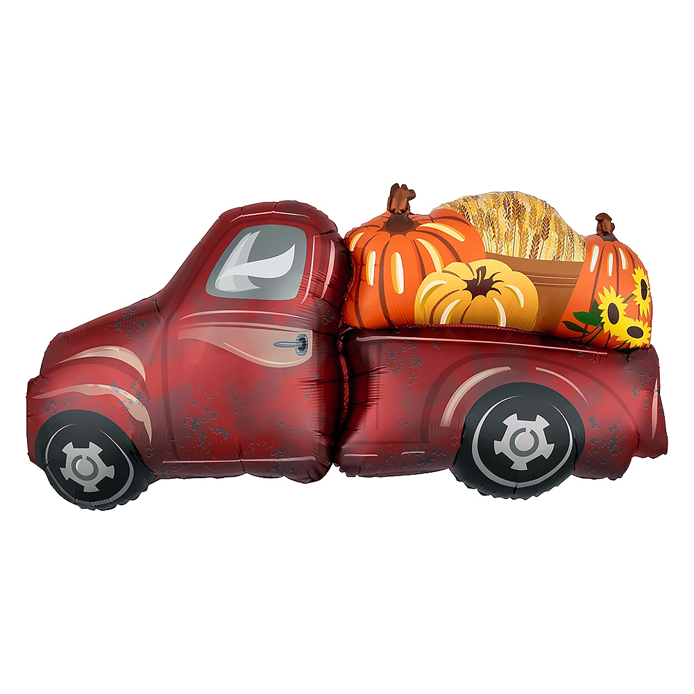 Giant Red Truck Harvest Balloon Image #1