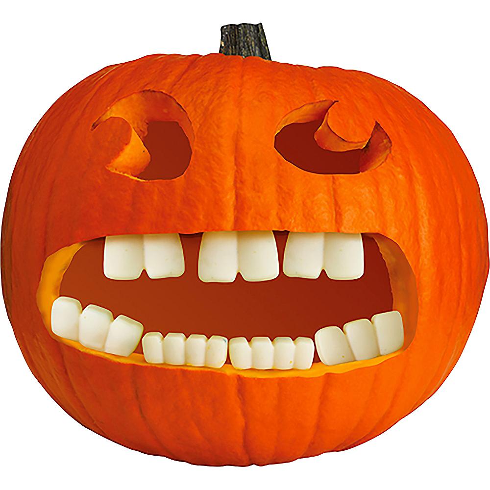 Glow-In-The-Dark Pumpkin Buck Teeth 7pc Image #2