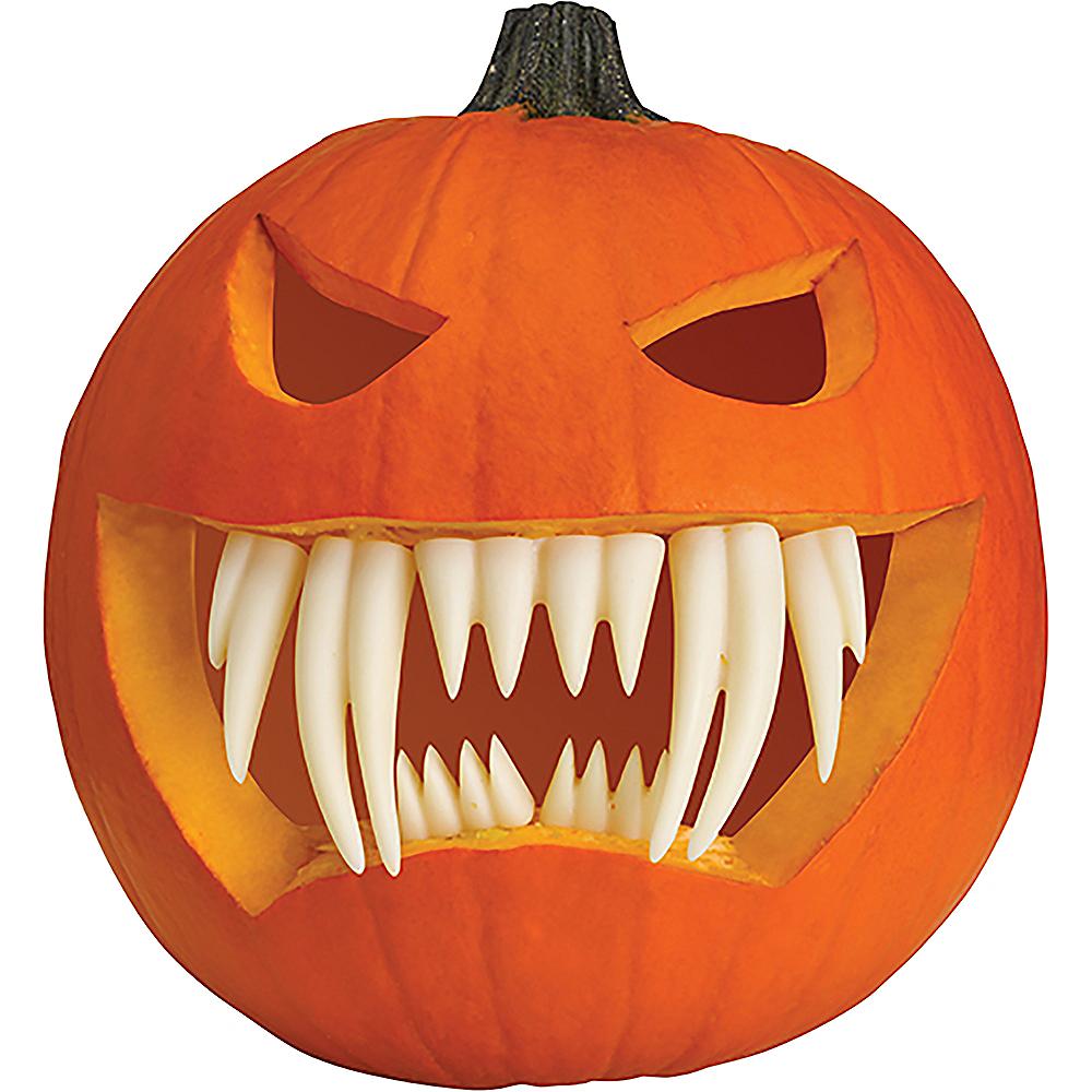 Glow-In-The-Dark Pumpkin Buck Teeth 7pc Image #3