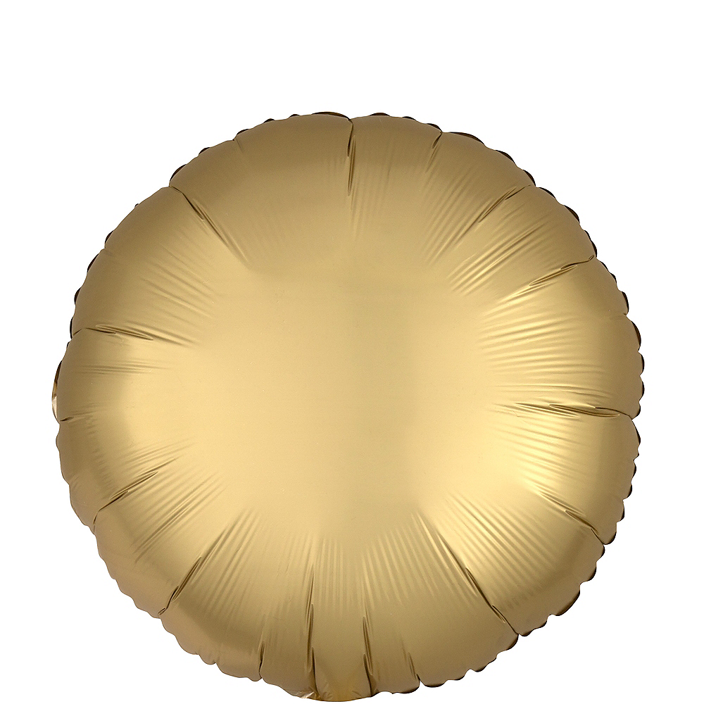 Nav Item for Gold Satin Round Balloon, 17in Image #1
