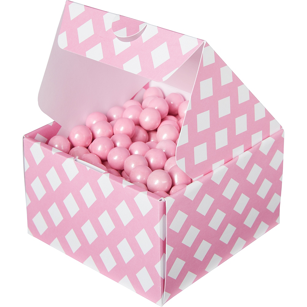 Bright Pink Square Treat Boxes 10ct Image #1