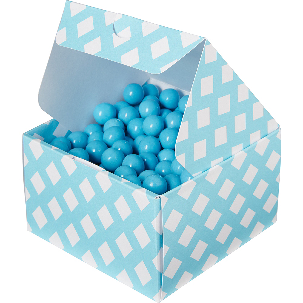 Caribbean Blue Square Treat Boxes 10ct Image #1
