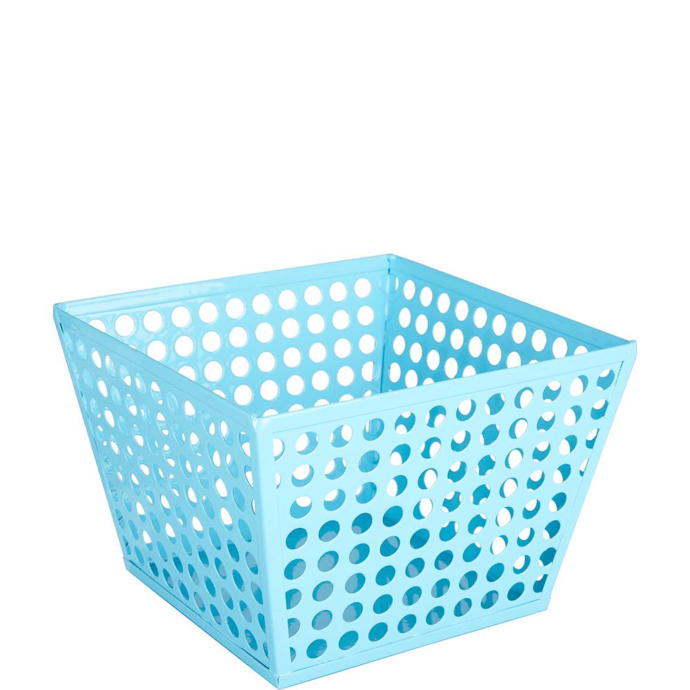 Caribbean Blue Metal Favor Basket Image #1