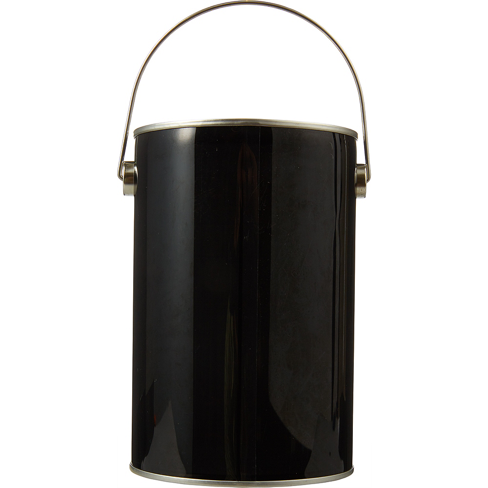 Small Black Plastic Favor Paint Can Image #1