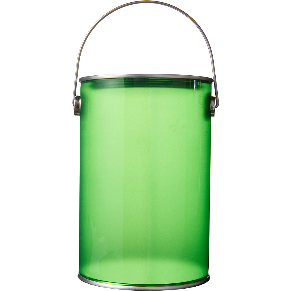 Small Kiwi Green Plastic Favor Paint Can Image #1