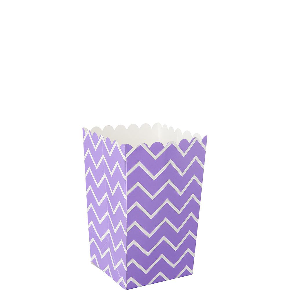 Mini Purple Chevron Popcorn Treat Boxes 6ct Image #1