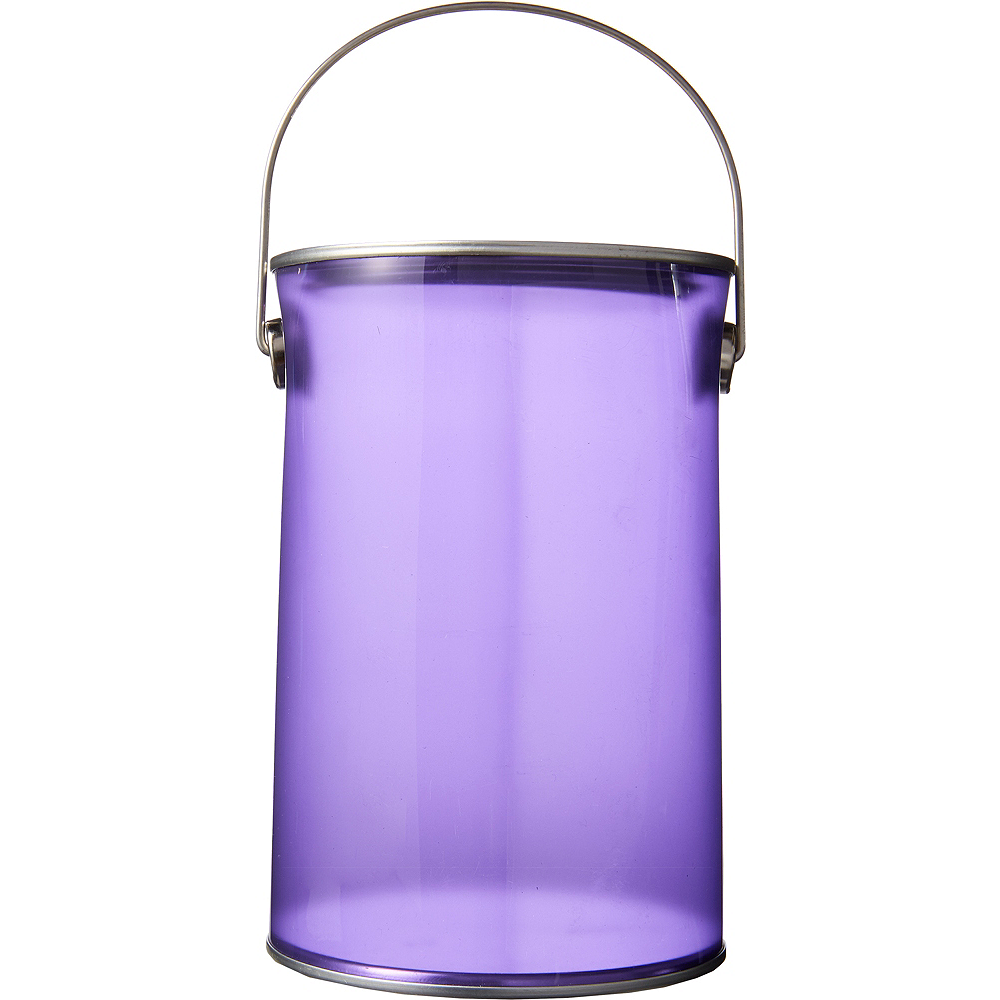 Small Purple Plastic Favor Paint Can Image #1