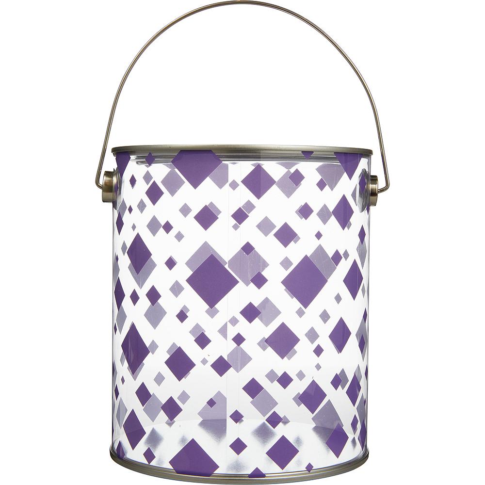 Large Purple Square Plastic Favor Paint Can Image #1