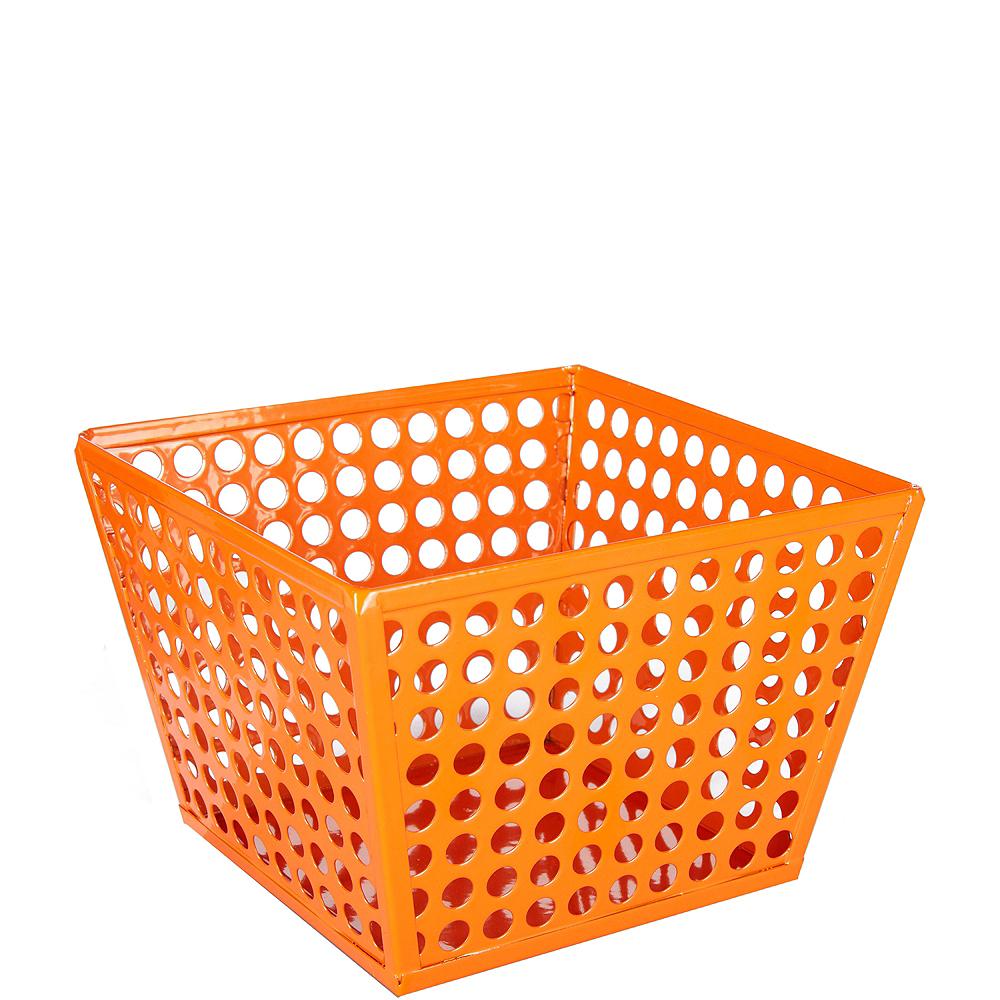 Orange Metal Favor Basket Image #1
